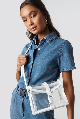 Astrid Olsen x NA-KD Transparent Crossbody Bag White | clear handbags