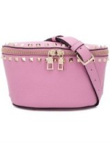 VALENTINO Rockstud pink leather belt bag ~ luxe fanny pack