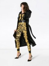 VERSACE beach royal high waist printed leggings ~ gold baroque skinny pants