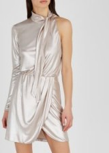 VERSACE COLLECTION Pearl metallic one sleeve jersey dress ~ luxe partywear
