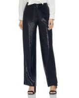VINCE CAMUTO Sequined Wide-Leg Pants in classic navy ~ dark-blue sequin trousers