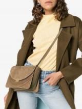 Wandler Camel Brown Luna Corduroy Shoulder Bag | textured handbags