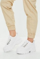 MISSGUIDED white super chunky sole trainers – sporty footwear