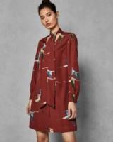 Ted Baker JOELAA Wonderland Flight dress – bird prints