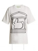 HILLIER BARTLEY X Aries short-sleeved bunny print white cotton T-shirt