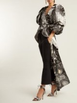 AJE X Brett Whitely black and white Starry Night-print puff sleeved blouse ~ maxi blouses ~ statement event clothing