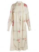 LOEWE X Charles Rennie Mackintosh ivory rose-print dress