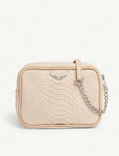 ZADIG & VOLTAIRE Savage boxy nude leather cross-body bag