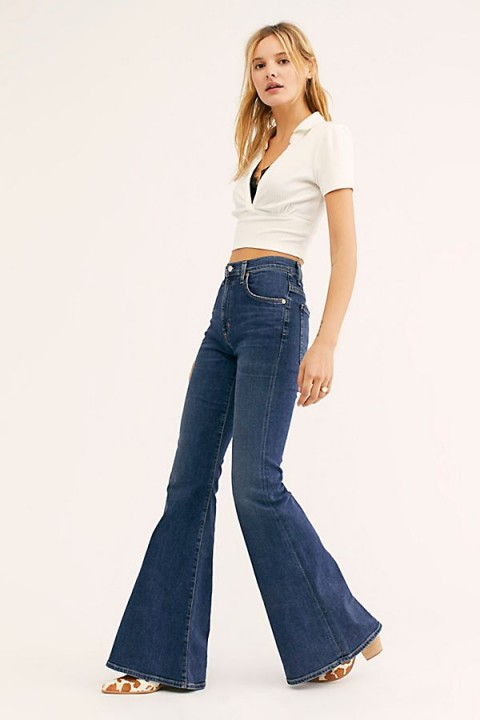 Citizens of Humanity Chole Flare Jeans in Dedication | super 70s style flares
