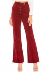 About Us Liv High Waisted Corduroy Pants in Burgundy – red cord flares – retro trousers