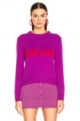ALBERTA FERRETTI French Kiss Sweater in Purple | slogan knitwear