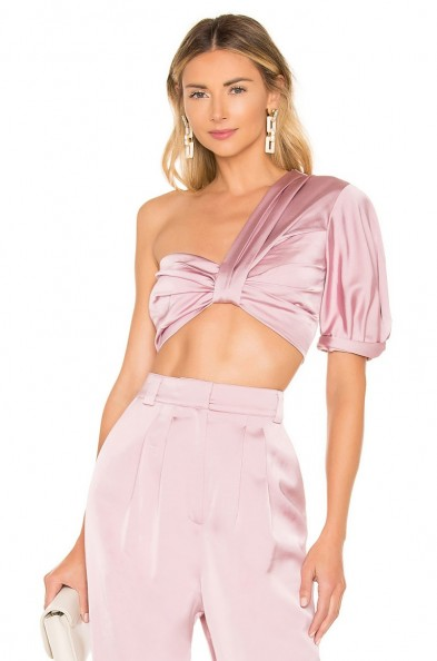 A.L.C. Tomlin Top Dusty Rose – glamorous pink crop