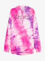 Ashish X Browns Tie-Dye Respect Hoodie in pink