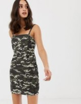 ASOS DESIGN cord dress in camo print – camouflage printed corduroy