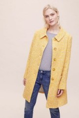 Helene Berman x Anthropologie Femmy Swing Coat in Yellow | textured coats