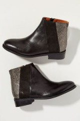 Esska Metallic-Panelled Leather Chelsea Boots in Black | casual luxe