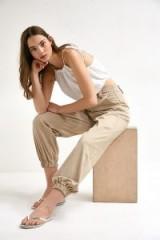 UO Jordyn Safari Jogger Trousers in Brown | casual cuffed pants