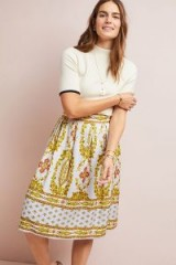 Maeve Echarpe Skirt in Lilac   pretty floral print skirts