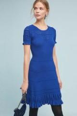 Maeve Promenade Crochet Dress in Sapphire | blue knitted dresses
