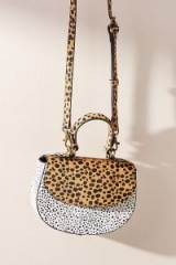 Anthropologie Running Wild Crossbody Bag in Black and White | animal print handbags