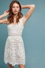 ML Monique Lhuillier Yolande Lace Dress in Ivory | feminine occasion dresses