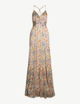 BA&SH Rosy floral-print woven dress in white