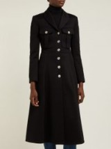 BURBERRY Beaumaris bonded black cotton-blend coat ~ chic military coats