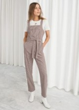 & other stories Belted Gingham Overalls | plaid dungarees