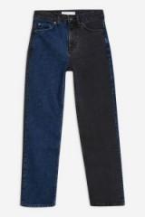 Topshop Blue Black Colour Block Jeans | multicoloured denim
