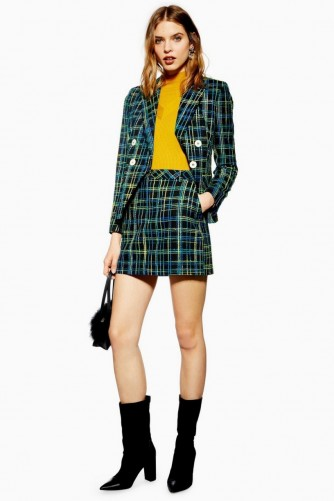 TOPSHOP Boucle Check Skirt ~ checked tweed skirts