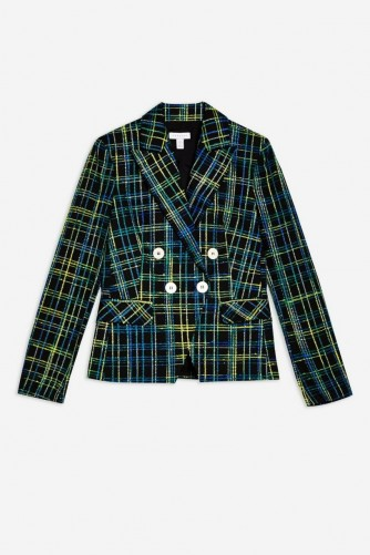 TOPSHOP Boucle Checked Jacket – tweed jackets