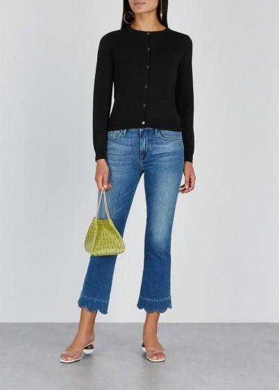 BOUTIQUE MOSCHINO Black cotton cardigan ~ classic button-up cardi