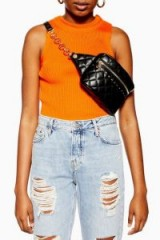 Topshop Britt Quilted Bumbag in Black | stylish fanny packs