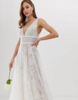 Bronx & Banco Emily embellished bridal gown blush – feminine wedding dresses