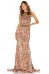 Bronx and Banco Moon Gown Bronze – glamorous beaded gowns – red carpet style glamour