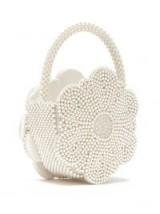 SHRIMPS Buttercup white faux pearl-embellished bag ~ small luxe handbag
