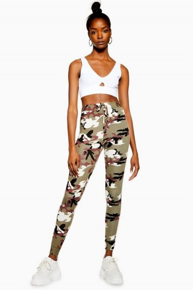 Topshop Camouflage Joggers in Lavender | camo prints