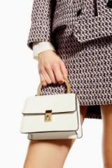 Topshop Champagne Cross Body Bag in Cream | small retro bags