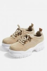 TOPSHOP CHOMP Chunky Trainers Natural – thick sole sneakers
