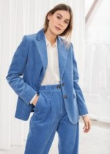 & other stories corduroy blazer in blue – cord jackets