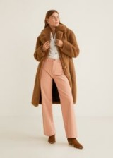 MANGO Corduroy straight trousers in pastel pink – pretty cords