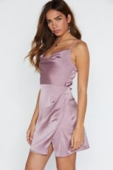 NASTY GAL Cowl About Mini Dress in lavender