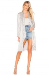 cupcakes and cashmere Yoko Drape Front Trench in fog | luxe coats