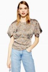 Topshop Daisy Tea Top | floral tie back blouse
