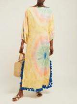 RHODE RESORT Delilah tie dye-print cotton dress / multicoloured holiday dresses