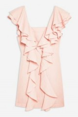 Topshop Double Ruffle Mini Dress in Pink | feminine style party fashion