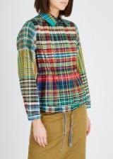 DRIES VAN NOTEN Varella checked cotton jacket ~ multicoloured checks