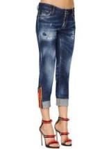 DSQUARED2 SUPER SKINNY MED WASH COTTON DENIM JEANS – casual designer fashion