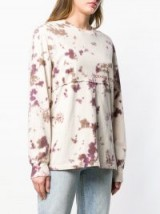 ECKHAUS LATTA tie-dye jumper in dirtydye / casual crew neck top