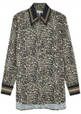 EQUIPMENT Bradner leopard-print satin shirt in brown – wild animal prints